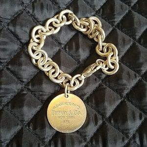 Tiffany & Co. Authentic Round Tag Bracelet